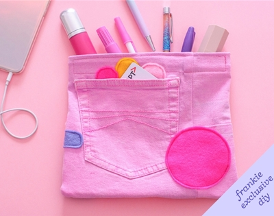 frankie exclusive diy: denim pencil case