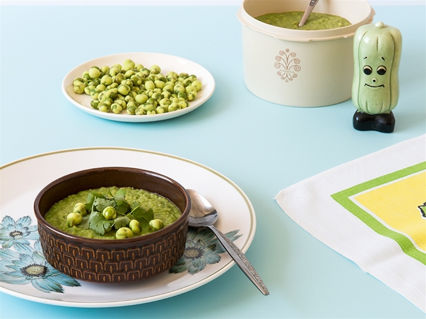 frankie food extract: wasabi pea soup