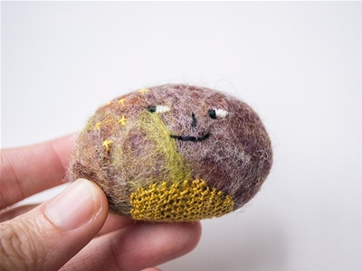 embroidered rock art
