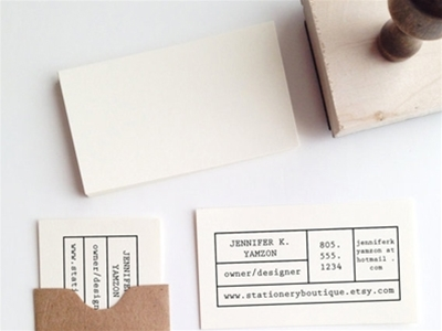 personalised business card stamp