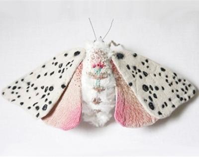 yumi okita's embroidered moths