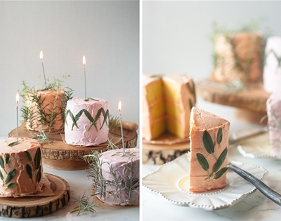 herb-infused birthday cakes