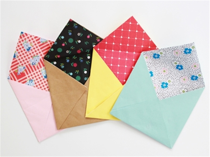 frankie exclusive diy: lined paper envelopes