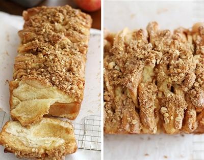 apple and cinnamon pull-apart bread