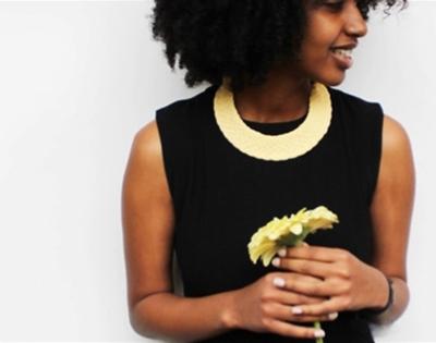 coalesced sustainable textile jewellery