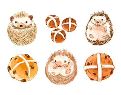hot cross hedgehogs