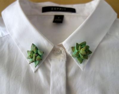 cactus collar pins