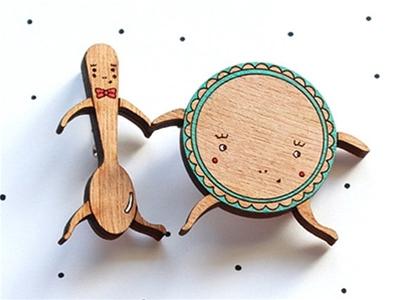 so little time co laser cut wooden jewellery