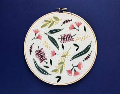 learn to embroider native birds and flowers