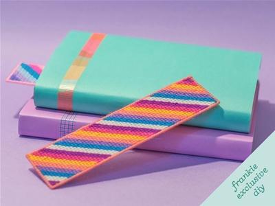 frankie exclusive diy: rainbow tapestry bookmark