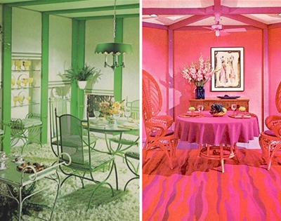 '70s monochromatic interiors