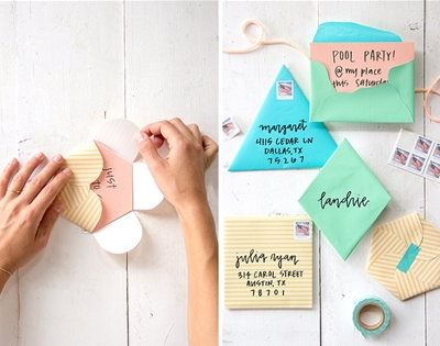 diy geometric envelopes