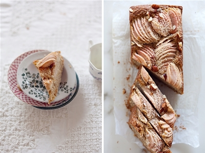 apple, hazelnut and oat cake