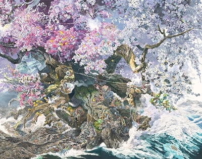 ikeda manabu's super-detailed artworks