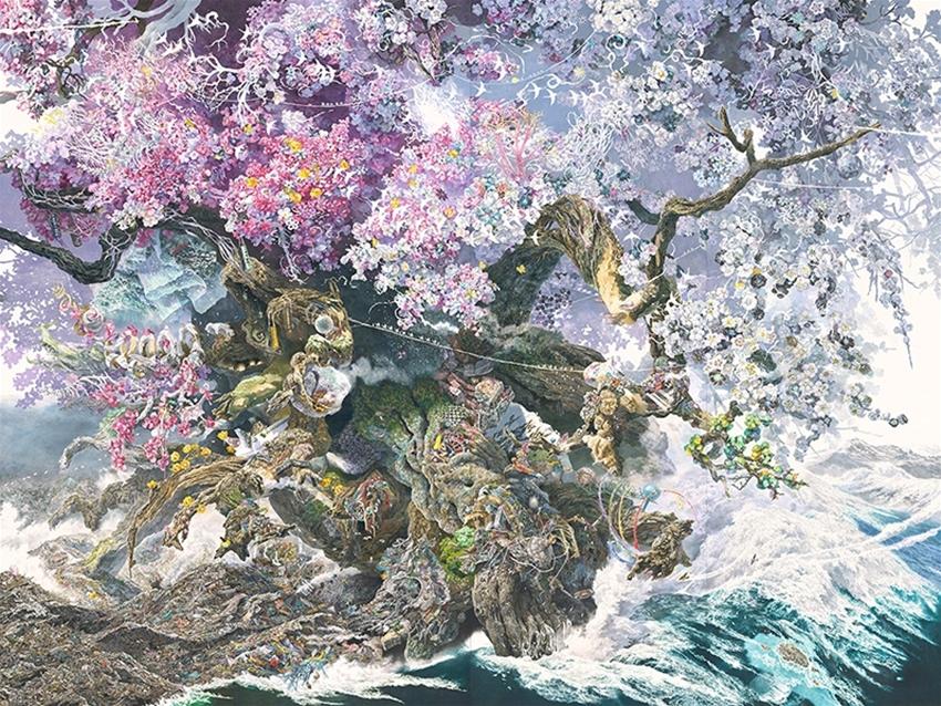 ikeda manabu's super-detailed artworks