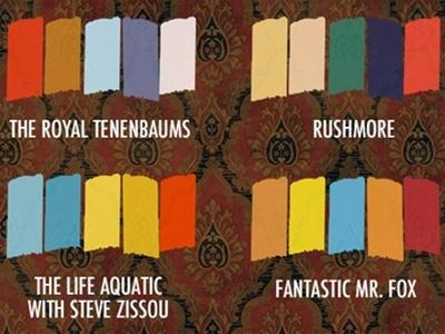 wes anderson colour palette