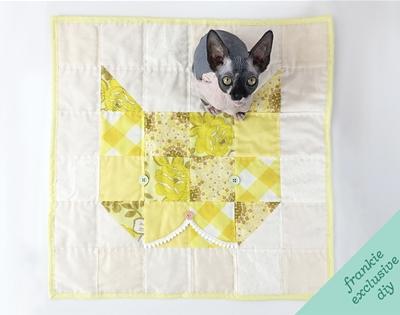 frankie exclusive diy: cat quilt