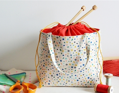 frankie exclusive diy: drawstring basket-bag