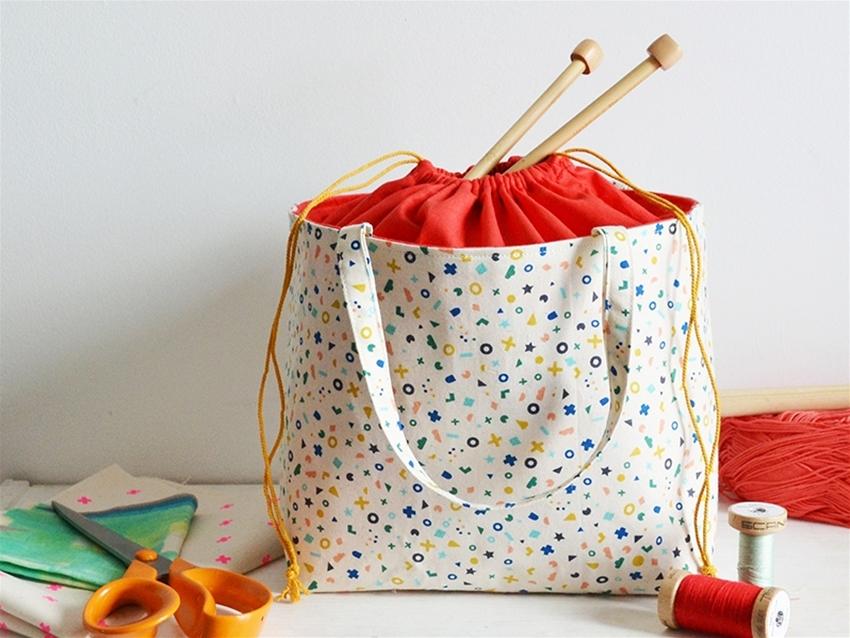frankie exclusive diy: drawstring basket-bag