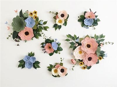 the perks of felt wall flowers