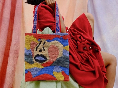 camille auclair's tapestry tote bags