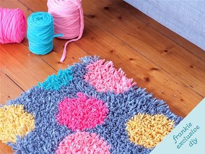 frankie exclusive diy: t-shirt yarn rug