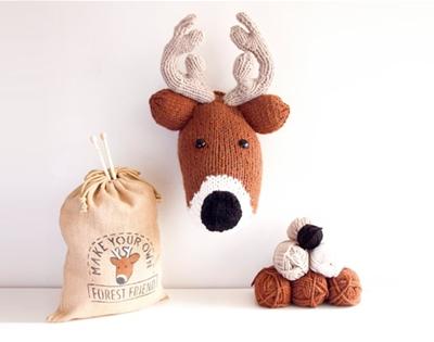 faux taxidermy knitting kits