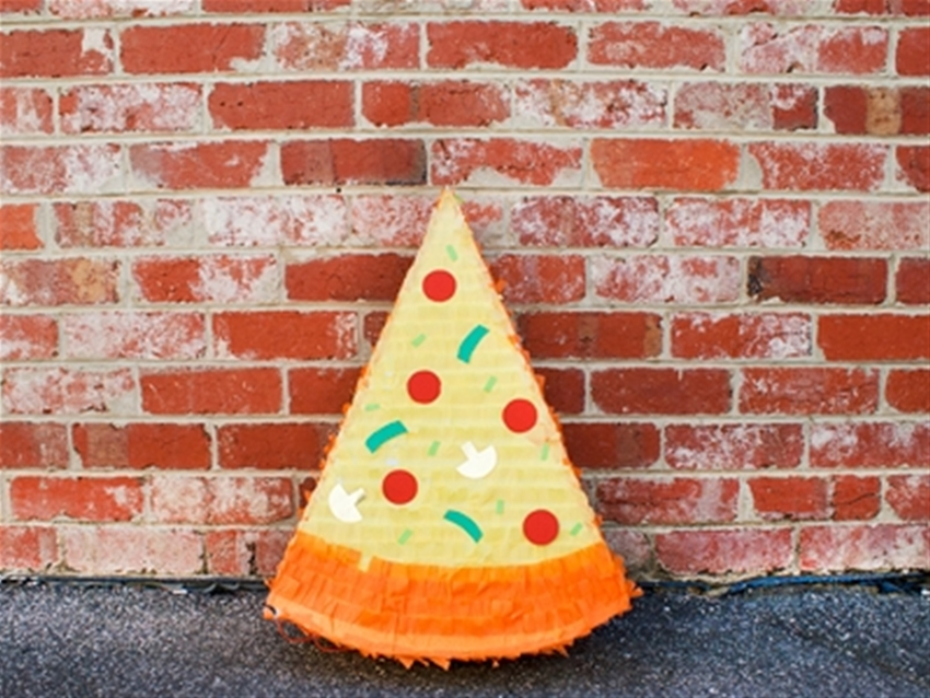 pizza slice pinata diy