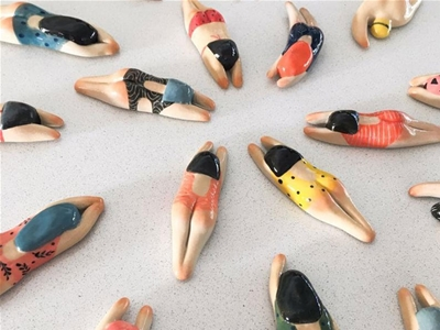 swimming fridge magnets