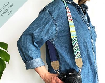 frankie exclusive diy: cross-stitch camera strap