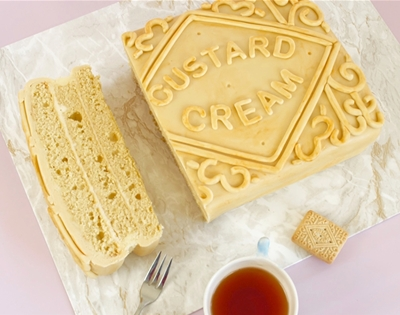 diy giant custard cream cake