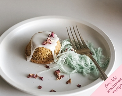 frankie fodder: pistachio and rose tea cakes