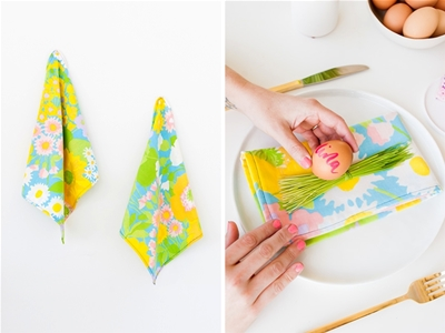 diy napkins from vintage pillowcases