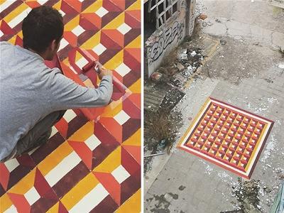 javier de riba's floor art