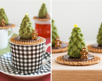 christmas tree stroopwafels