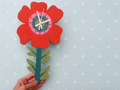 frankie exclusive diy: flower stem clock