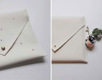 frankie exclusive diy: scalloped leather clutch