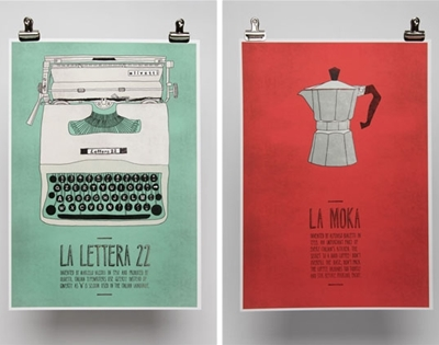 italian-themed posters