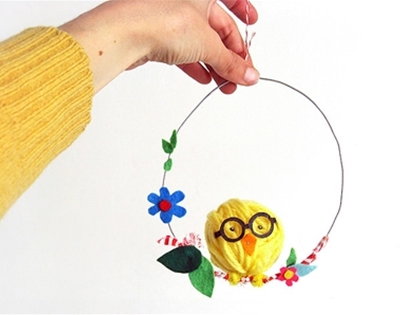 diy swinging easter chick