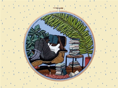 book club embroidery pattern