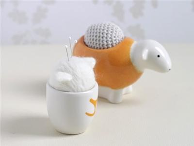 eggy cup pin cushion