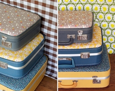 make your own floral suitcase