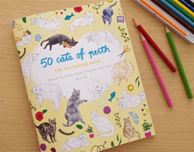 cats of perth colouring book