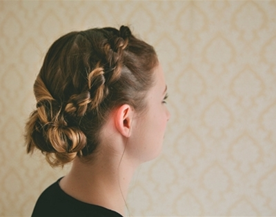 get fancy: knotted braid