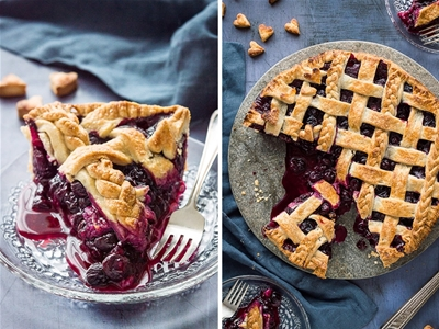 blueberry pie with coconut oil crust