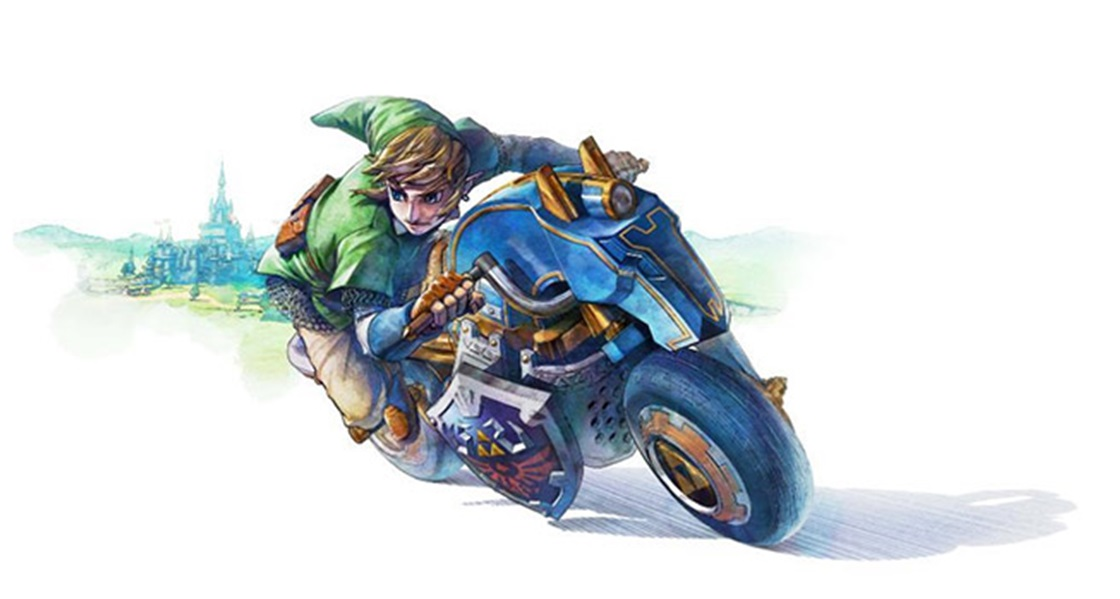 Link's New Mario Kart 8 Vehicle