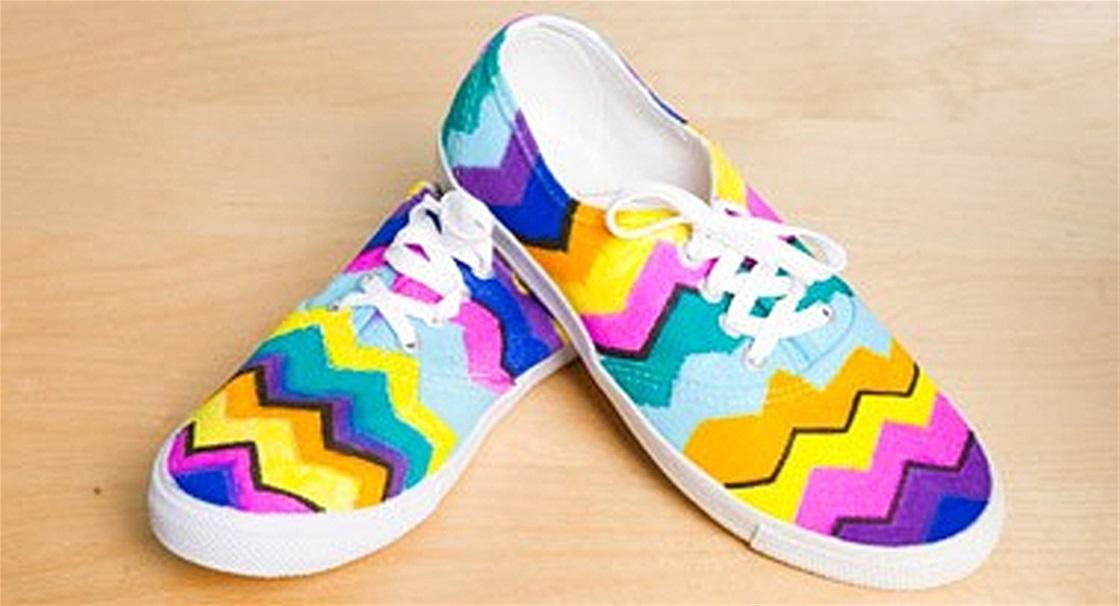 DIY: Personalised Funky Footwear