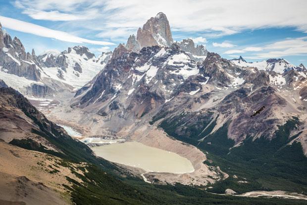 Argentina Patagonia El Chalten Loma del Pliegue Tumbado Peak Fitz Roy View