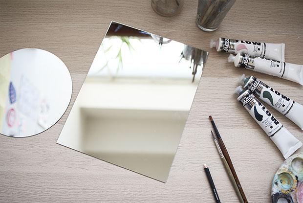 diy painted mirror frankie materials