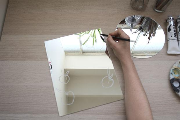 diy painted mirror frankie step 1